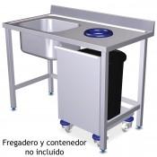 Puerta- Carro con Ruedas para contenedores 46x50 - 06-074472