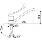 Grifo de barra de bar monomando manilla corta  34-548033
