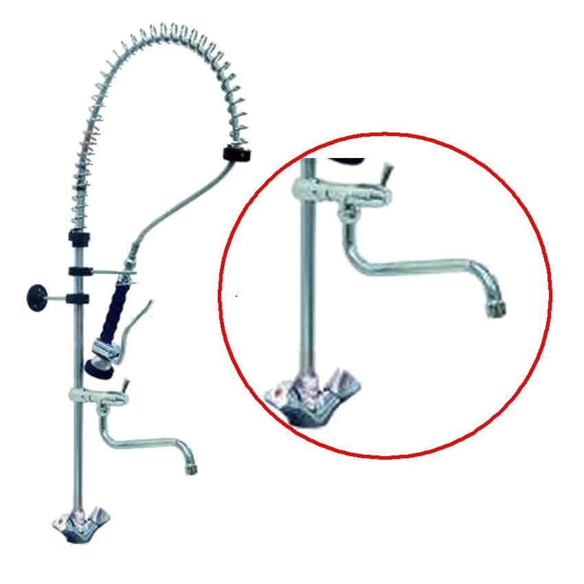 Grifo ducha con dos llaves y un agujero y grifo en la for Partes de una llave de ducha