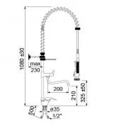 Grifo de ducha dos aguas  y mando de cierre 34-548831