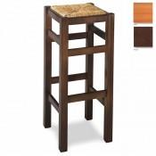 Taburete de madera cuadrado MR20 asiento de madera