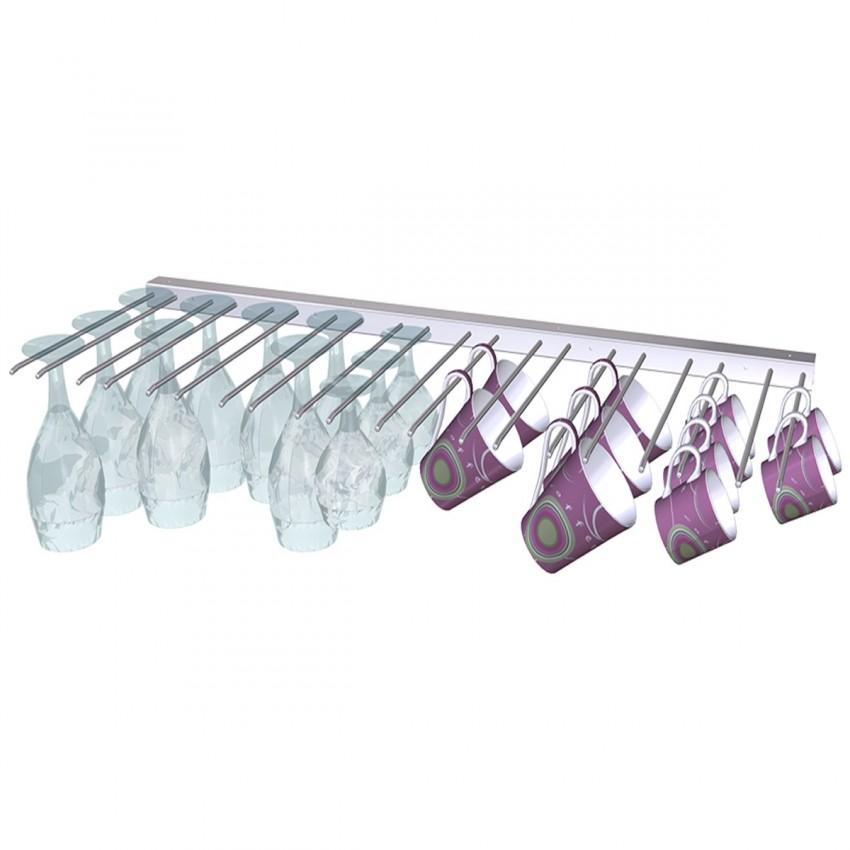 Varilla Cuelga-copas inox para bar de pared o techo 06-083006