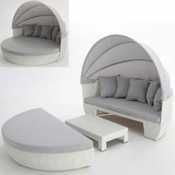 cama lounge alameda para terrazas en rattn