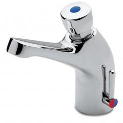 Grifo de lavabo temporizado un agua 06-464602