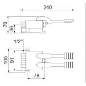 Pedal de grifo mezclador fria y calente 34-547904