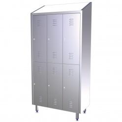 Armario de Acero 081402 Con 2 modulos y 4 Puertas.