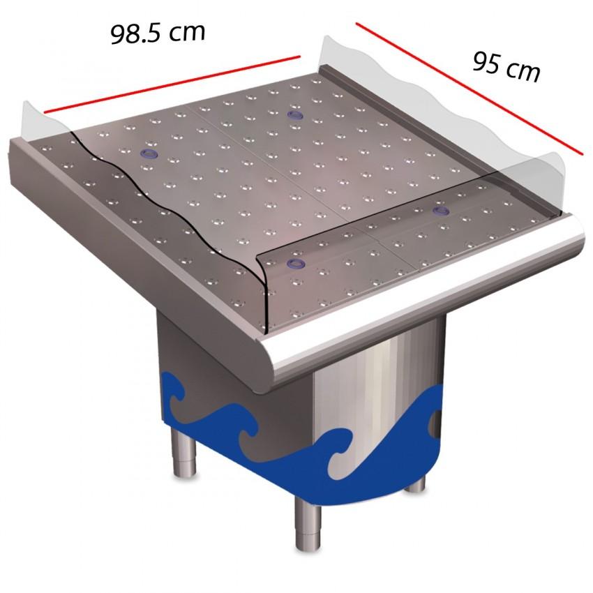 Mostrador Frutería 075630 en Inox 985x950x1045