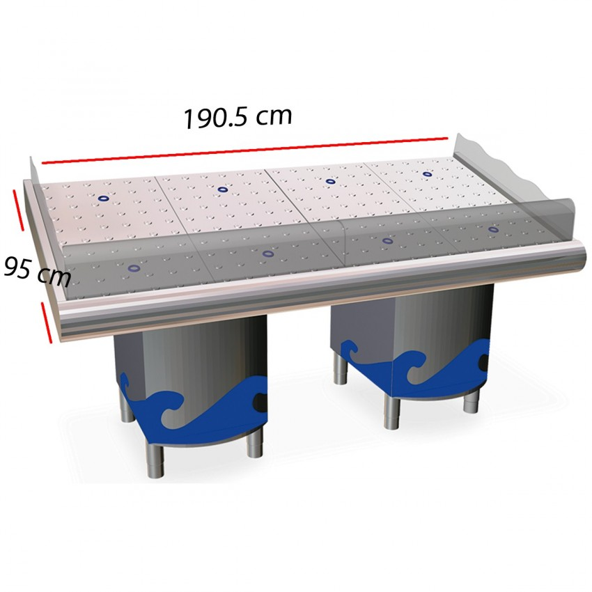 Mostrador Frutería 075632 en Inox 146,5 x 95