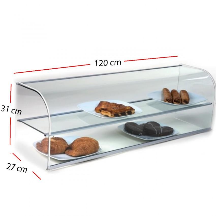 Vitrina Neutra cristal DOBLE Plata1000x270x310