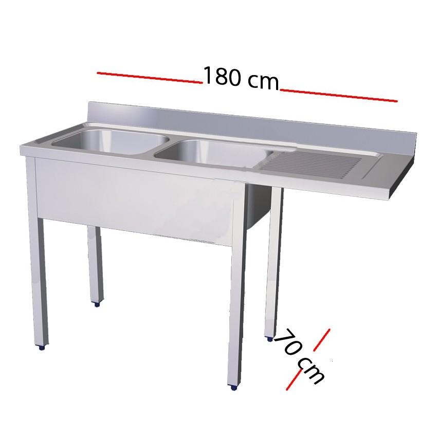Fregadero para lavavajillas 140 x 70 cm -1 cuba