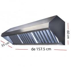 Campana industrial con motor de 108.5 x 55 cm y 60 cm de altura