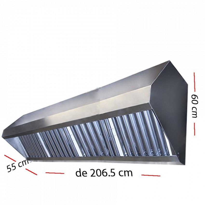Campana industrial de 55 cm con motor incorporado de 60 cm a 2 metros