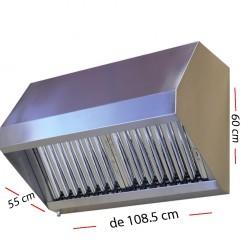 Campana industrial de 108.5 x 55 cm y 60 cm de altura