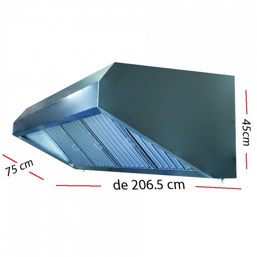 Campana industrial de 157.5.5 x 75 cm y 45 cm de altura