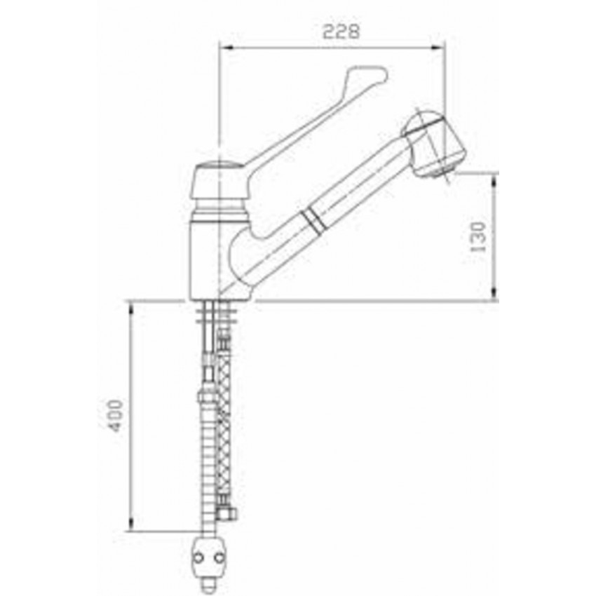 Grifo extensible de inox r0020223 for Grifo extensible