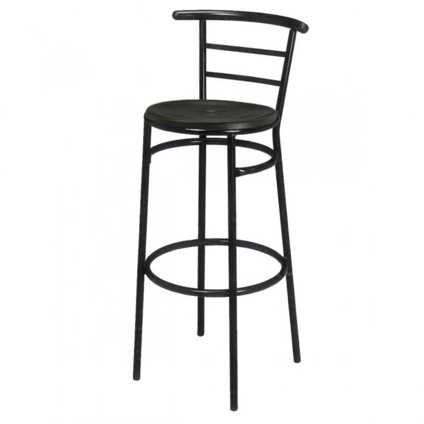 Taburete de Bar Acerado asiento Espuma - AYAMONTE
