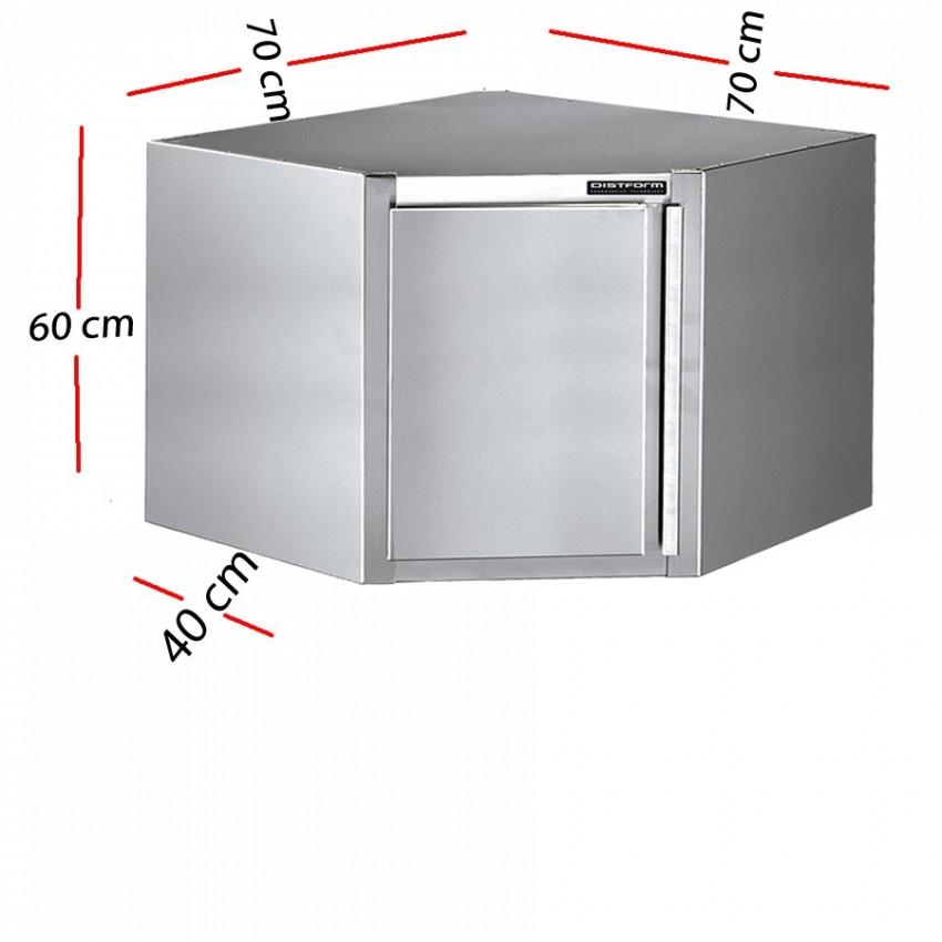 Esquinero cerrado inox 160x40 - Armario esquinero cocina ...