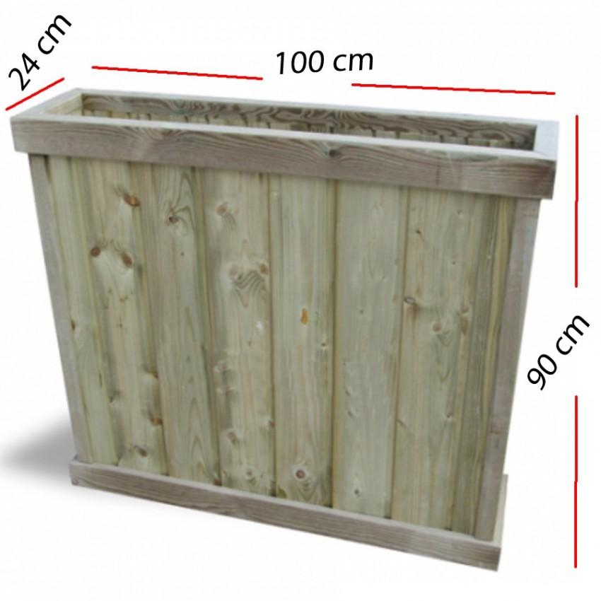 jardinera separador bayona en madera x cm