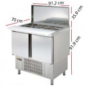 Mesa Fría para Pizzas de 91.2x70  GN1/1-1/6- MPGE-100