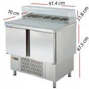Mesa con Granito de Ingredientes 91.4x70 5-GN1/6  MPGP-100-G