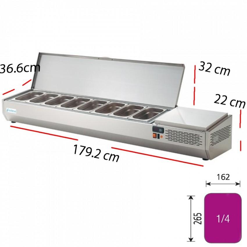 Vitrina Fría de Ingredientes 5- GN1/4- 134x33.6 cm- EIT-135