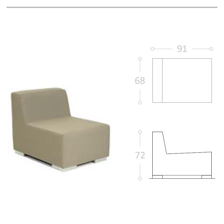 Sofa Tapizado para hostelería ANADON