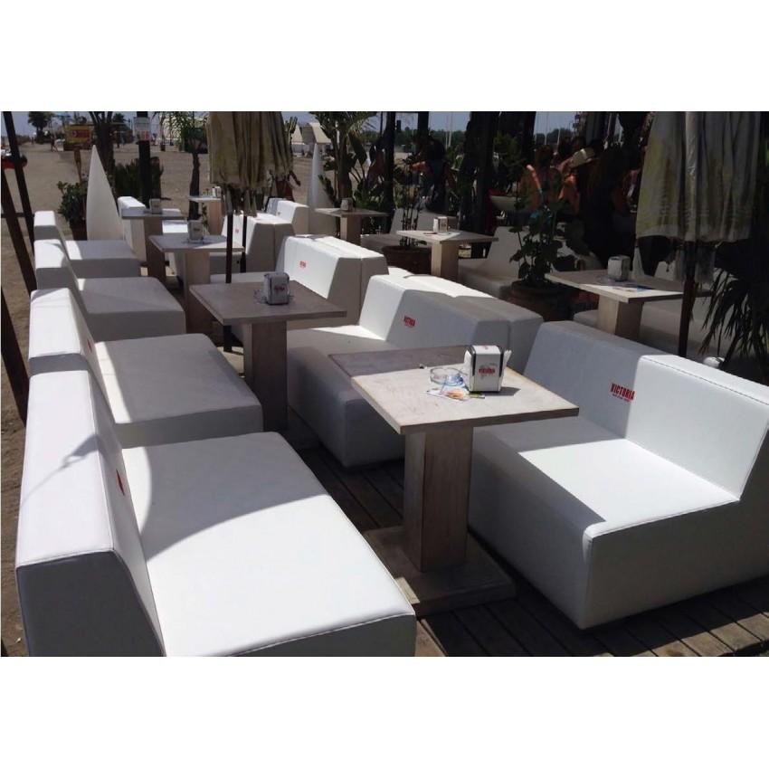 Sof de dos metros de tela de barco para terrazas o for Sofa exterior marbella