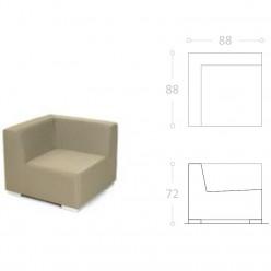 Sofa de Una plaza MARBELLA tela impermeable nautica
