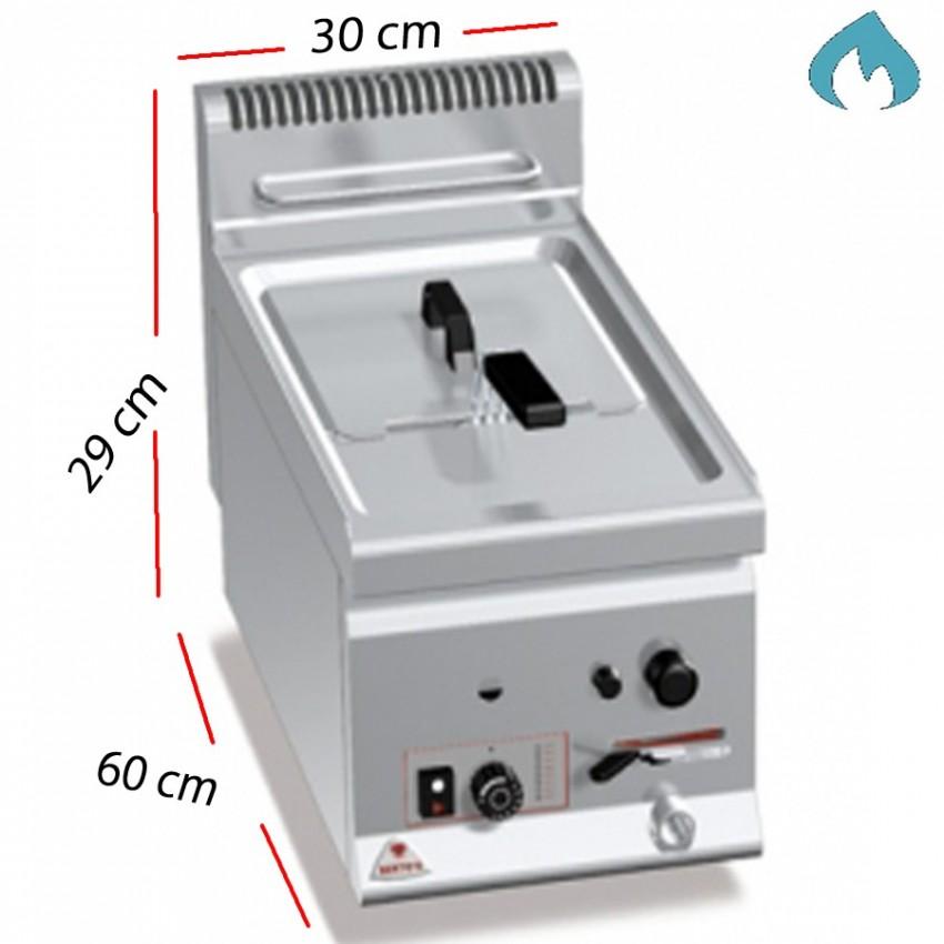 Freidora a Gas para cocinas 8 L. 6.6 Kw - GL8B