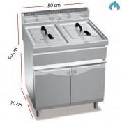 Freidora Industrial a Gas 15+15 L. de Pie - 03-GL15+15M
