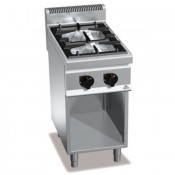 Cocina a Gas Fondo 70 - 2 Fuegos 7 Kw y 3.5 kW. G7F2M