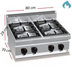 Cocina a Gas ECO sobremesa 4 Fuegos 19 Kw. 60x60