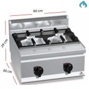 Cocina a Gas sobremesa 2 Fuegos 10.5 Kw. industrial
