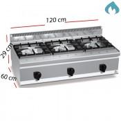 Cocina a Gas sobremesa 3 Fuegos 31 Kw. industrial