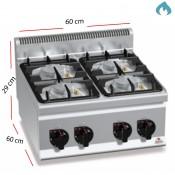 Cocina a Gas ECO sobremesa 4 Fuegos 19 Kw. industrial