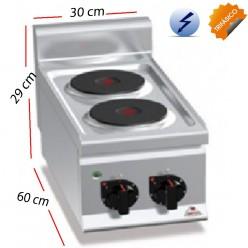 Cocina Electrica sobremesa 2 Fuegos 4 Kw. industrial