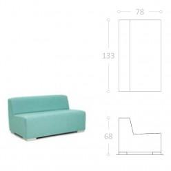 Sofa de Una plaza IBIZA tela impermeable nautica