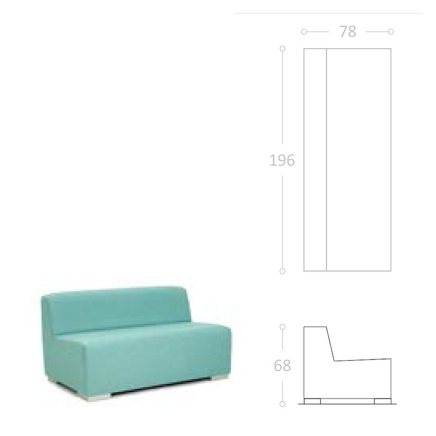Sofa para terraza de bar ibiza impermeable for Sofa exterior impermeable