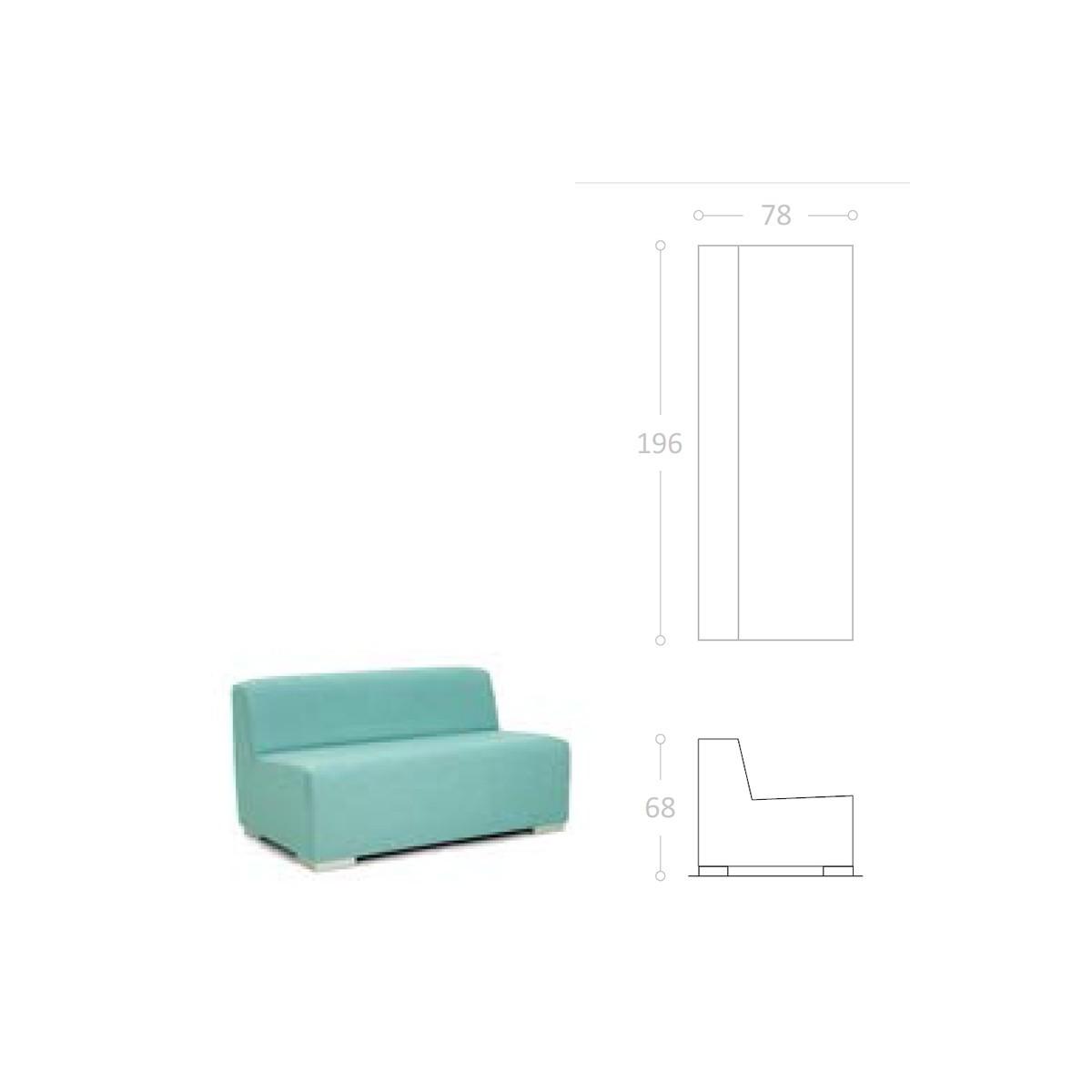 Sofa para terraza de bar ibiza impermeable for Sofa tela nautica