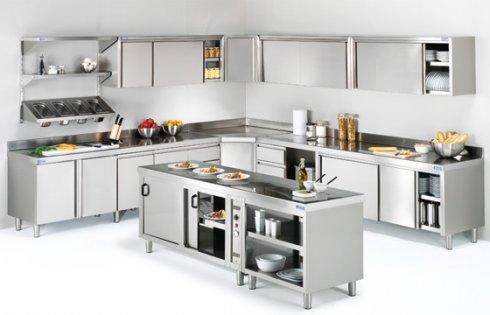 El acero inoxidable en las cocinas industriales