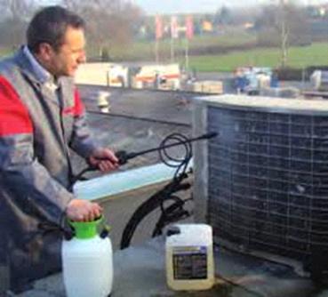 mantenimiento del condensador en una instalación frigorífica