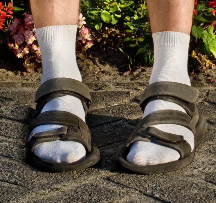 calcetines con sandalias