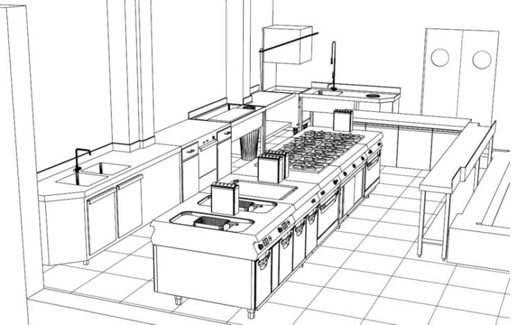 esquema de cocina