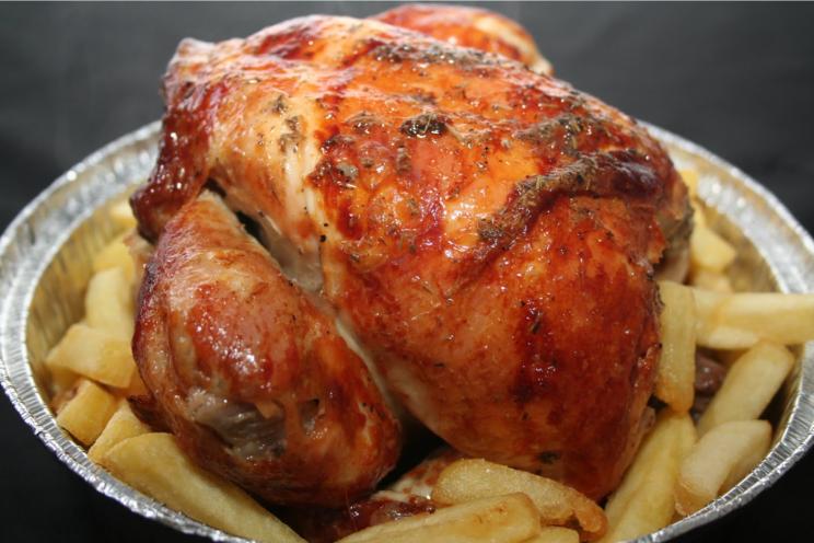 Pollo asado para llevar