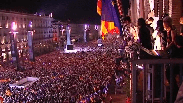 Pregon desde el ayuntamiento de Zaragoza