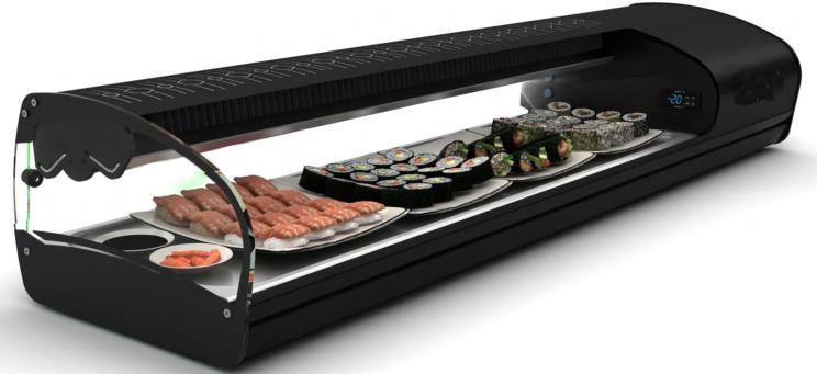 Vitrinas de tapas para sushi