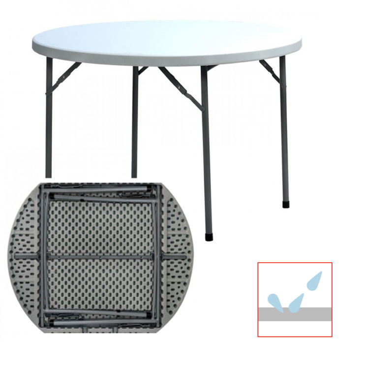 mesa de catering plegable