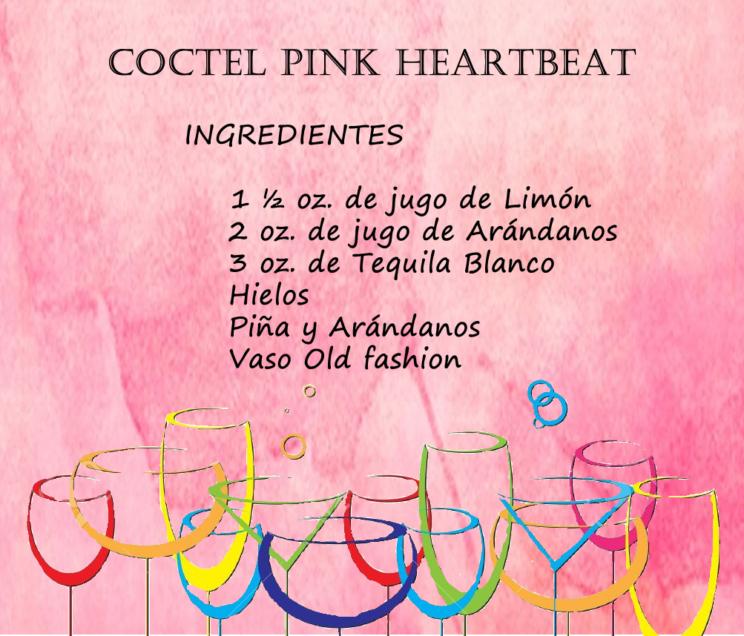 ingredientes del Cóctel Pink HeartBeat