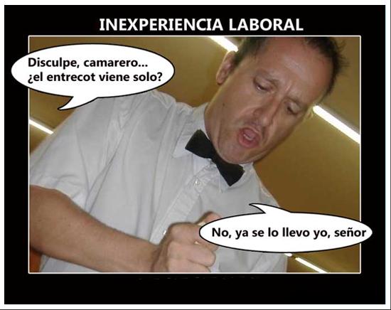 inexperiencia laboral