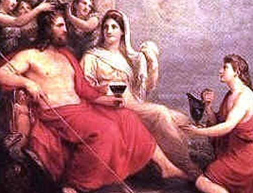romanos bebiendo